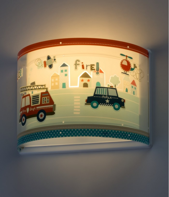 Aplique infantil de pared Police