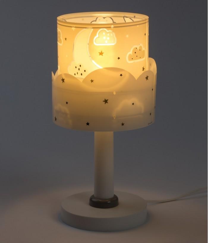 Lámpara infantil de mesita Moon gris