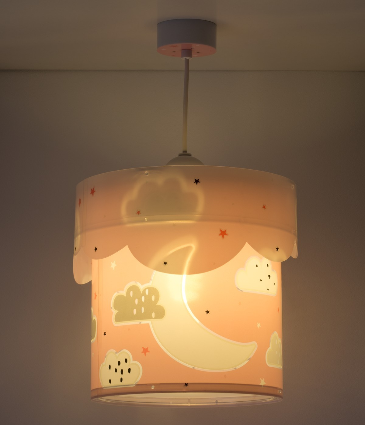 Children hanging lampMoon pink
