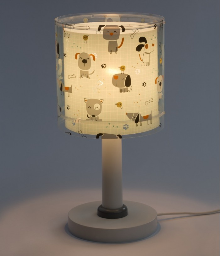 Children's Table lamp Happy Dogs