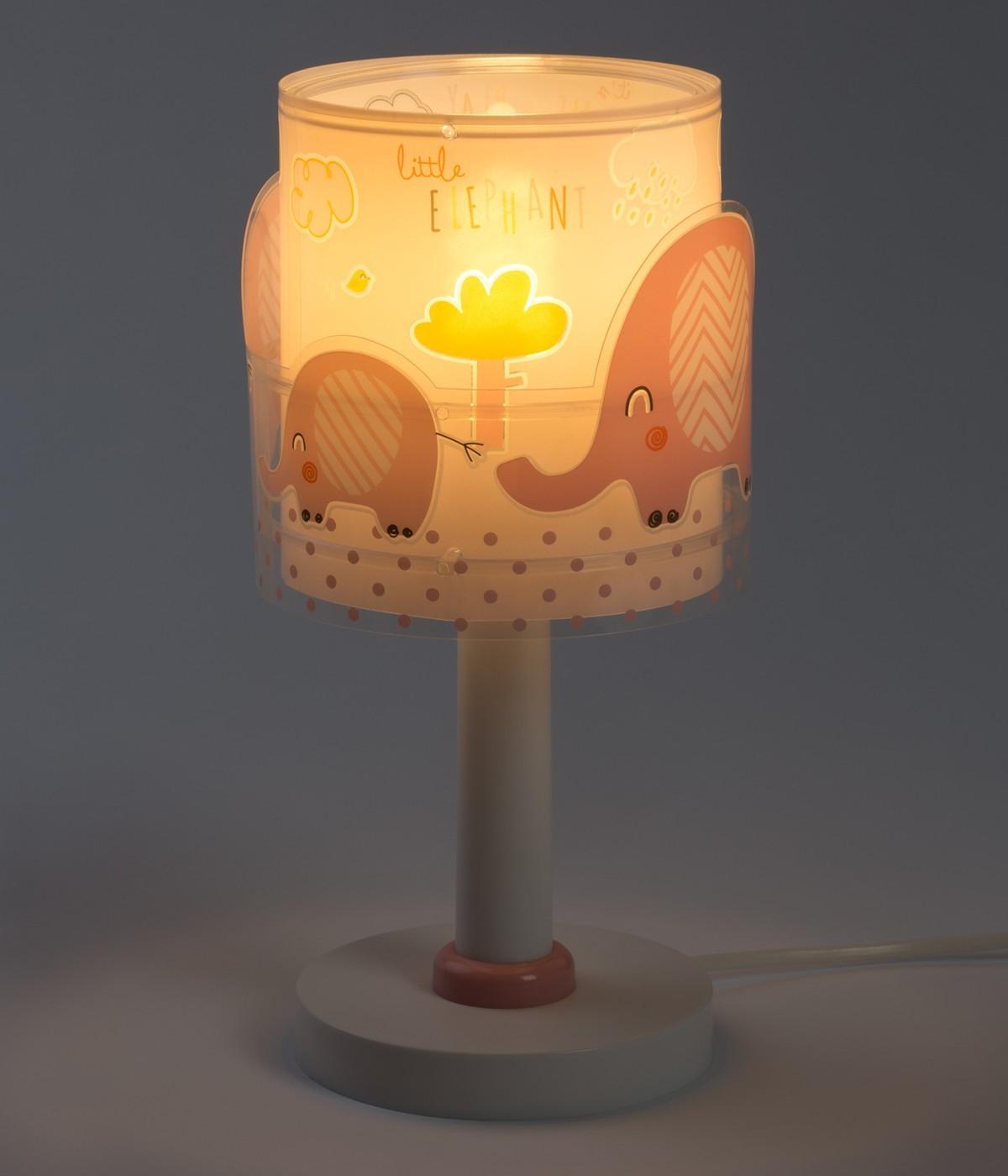 Lampe de chevet pour enfants Little Elephant rose