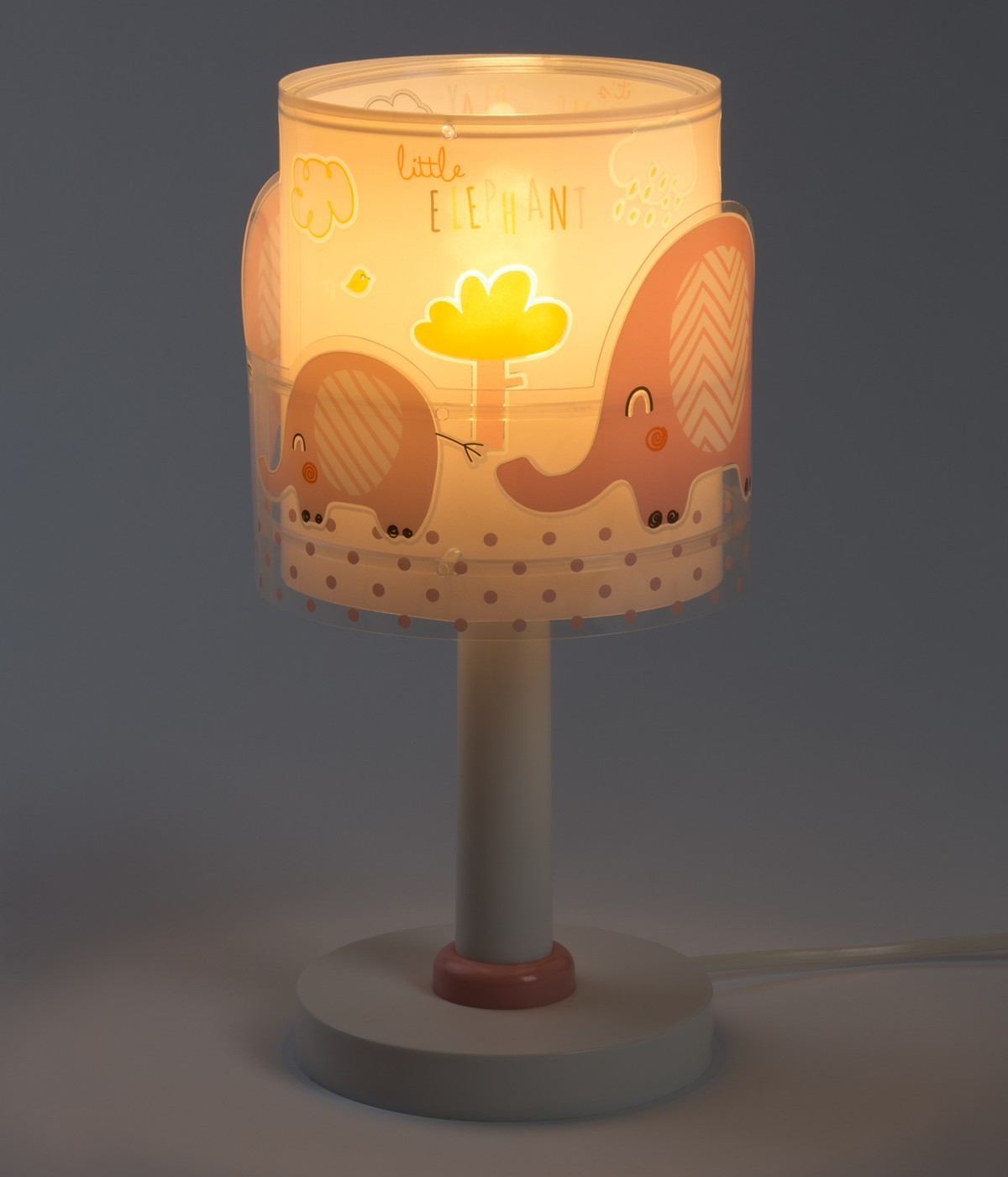 Children table lamp Little Elephant pink