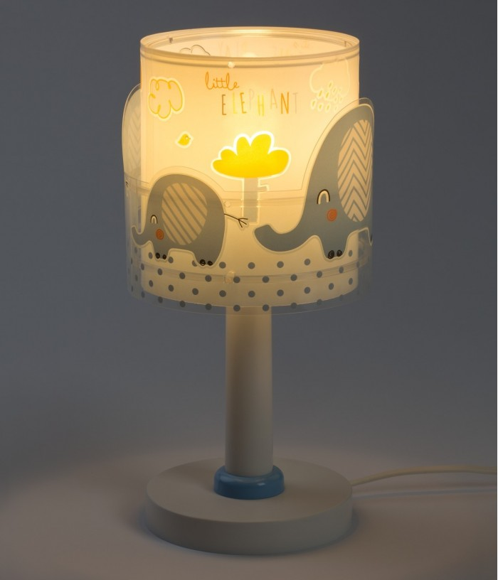 Lampada da comodino per bambini Little Elephant blu