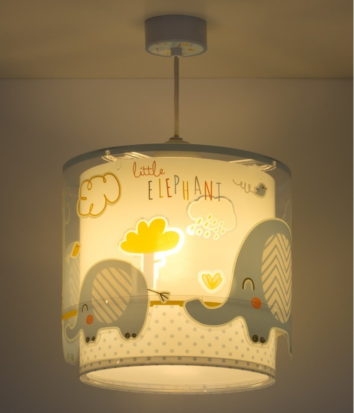 Children hanging lamp...