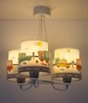 Candeeiro infantil de tecto três luzes Baby Travel
