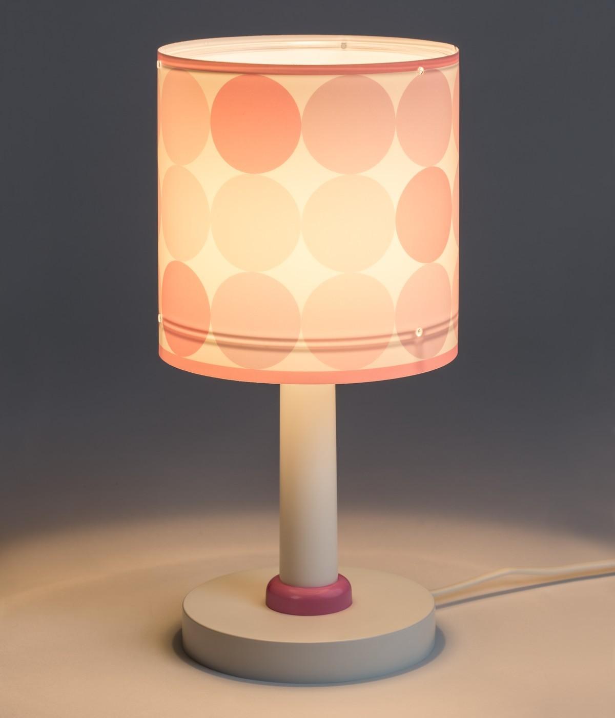 Lampada da comodino per bambini Colors rosa