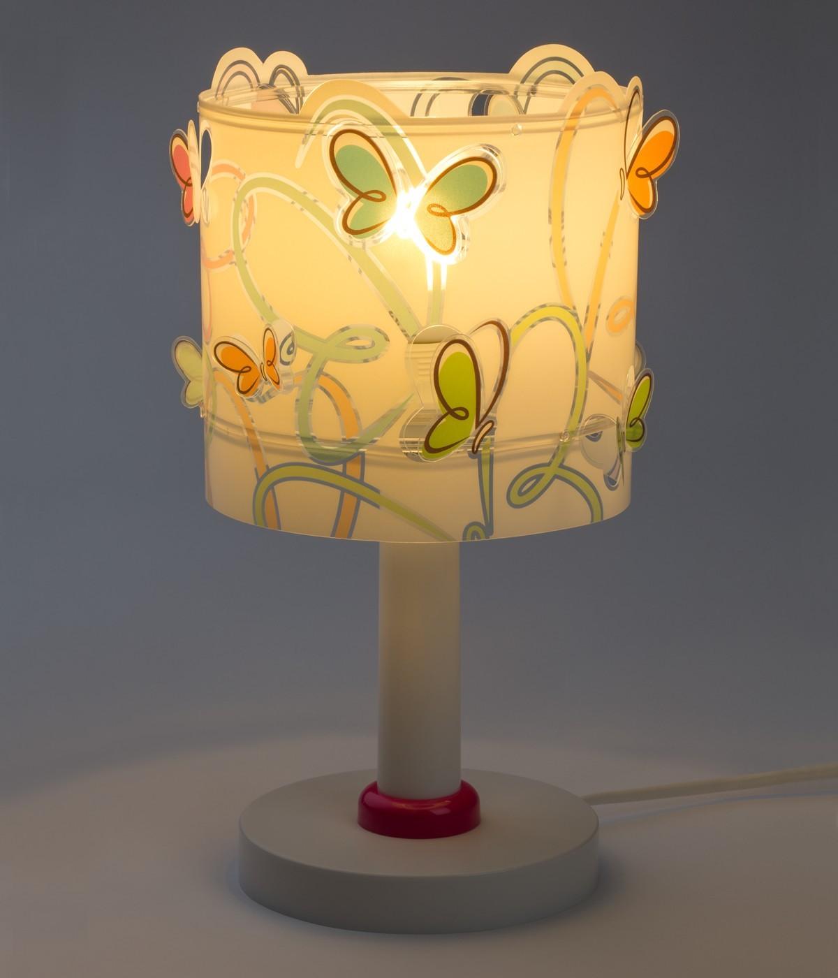 Lampada da comodino per bambini Butterfly