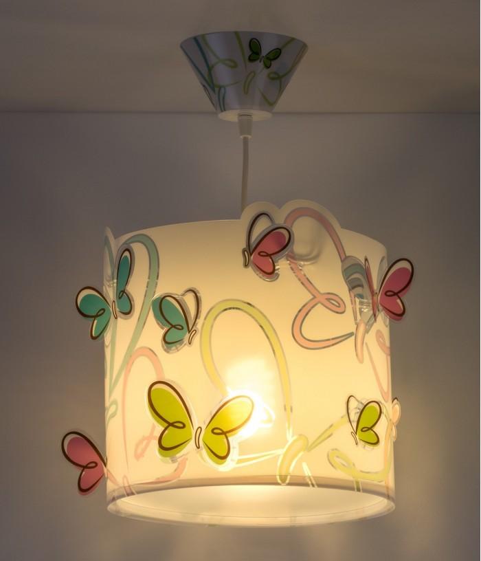 Candeeiro infantil de tecto Butterfly