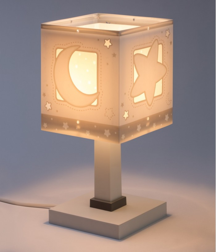 Children table lamp Moonlight gray