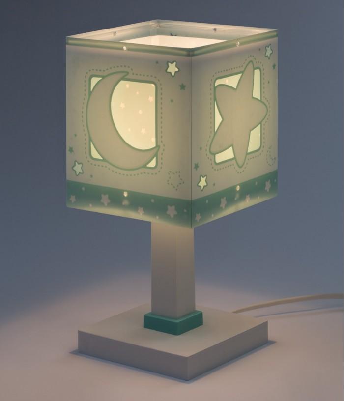 Lámpara de mesita infantil Moonlight verde