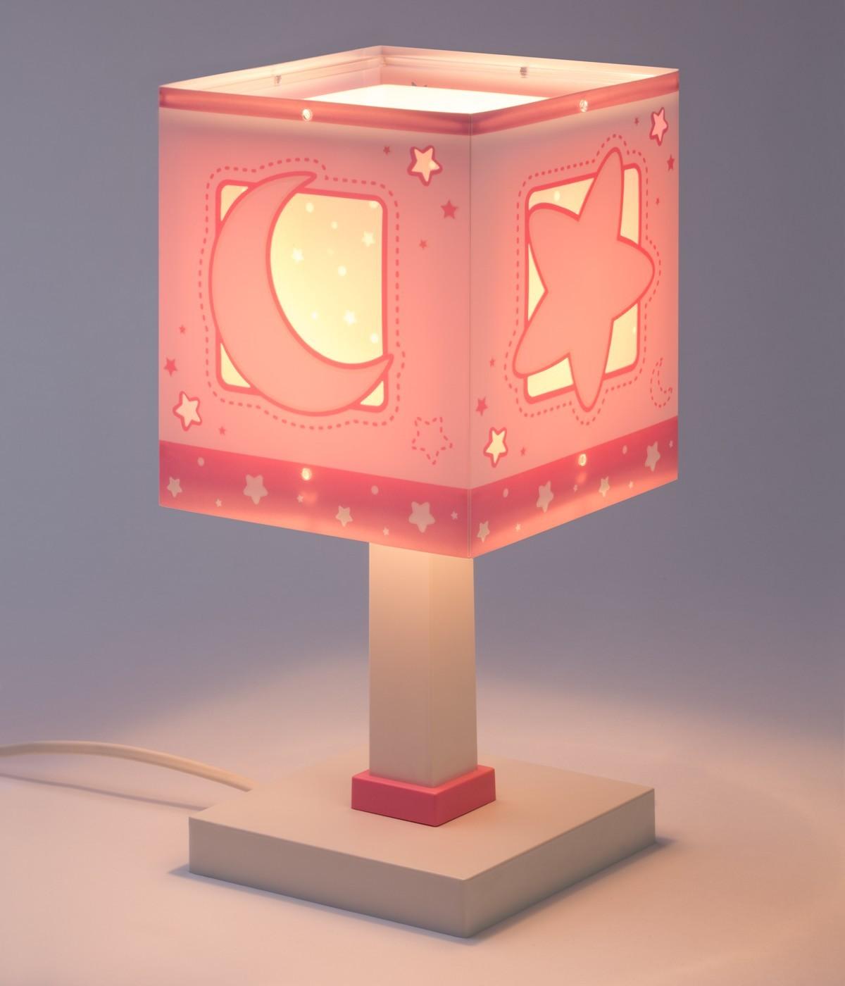 Candeeiro infantil de mesa Moonlight rosa
