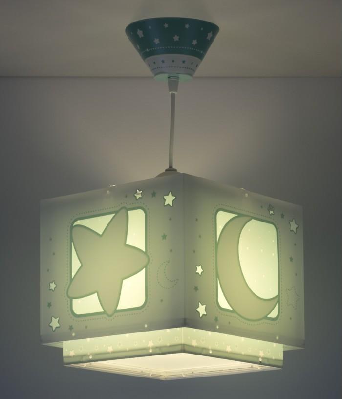 Lámpara infantil de techo Moonlight verde