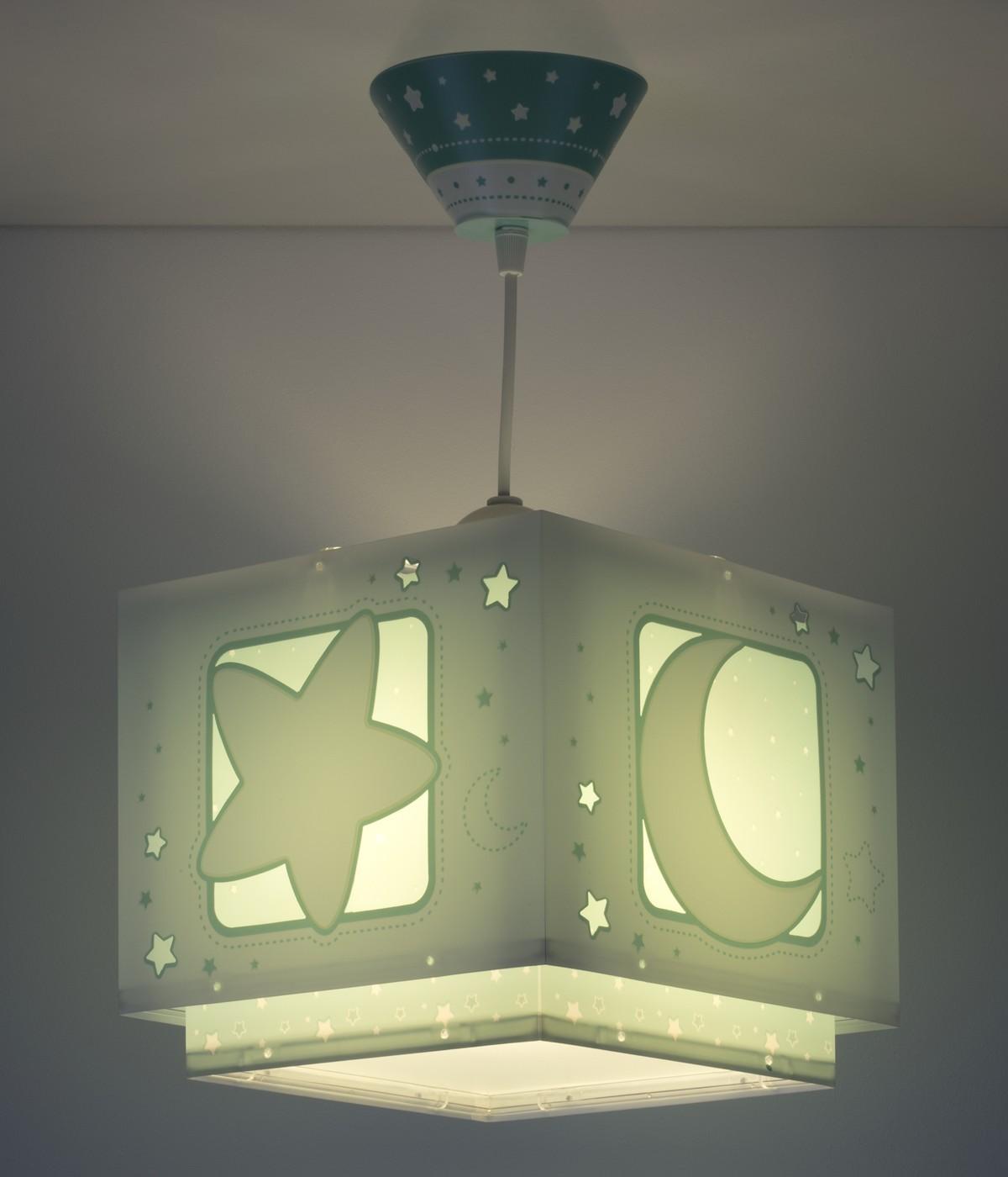 Lampadari per bambini Moonlight verde