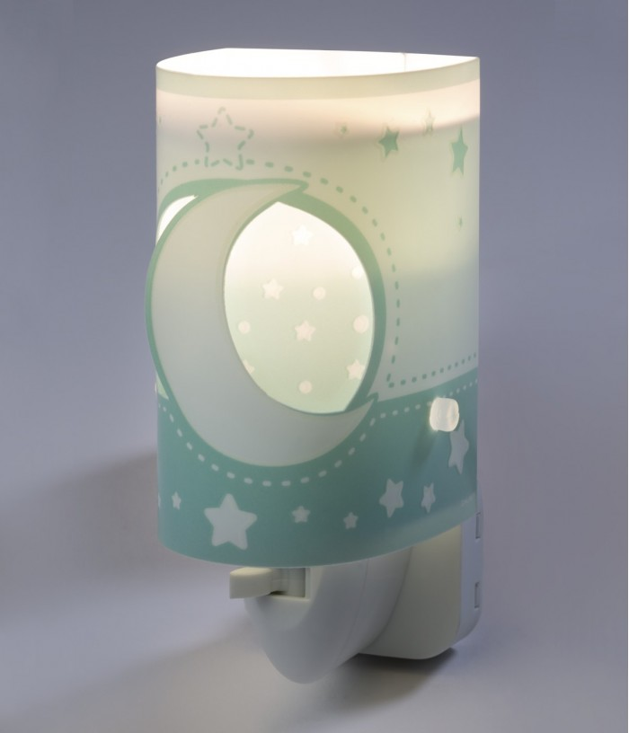 Lámpara infantil de noche LED Moonlight verde