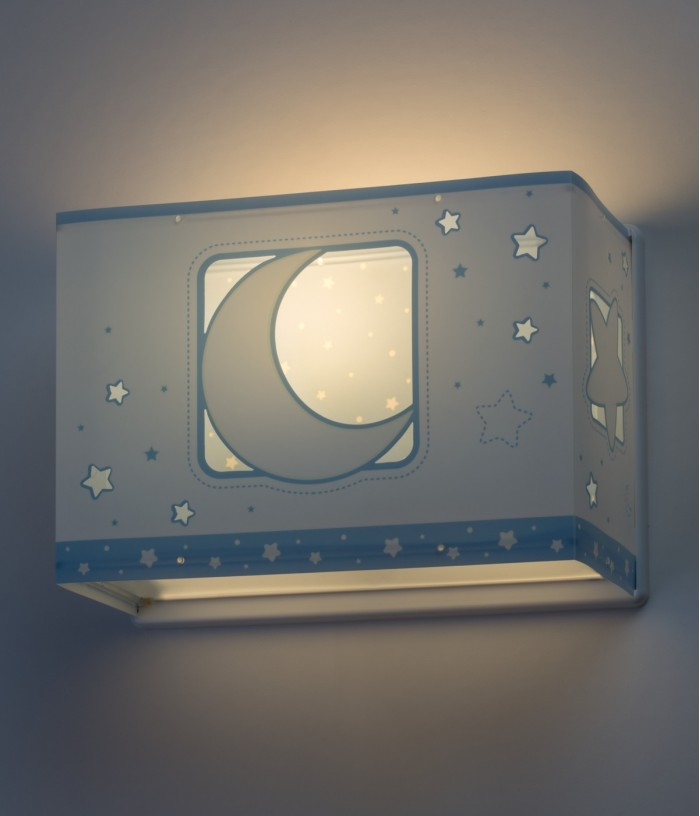 Children wall lamp Moonlight blue