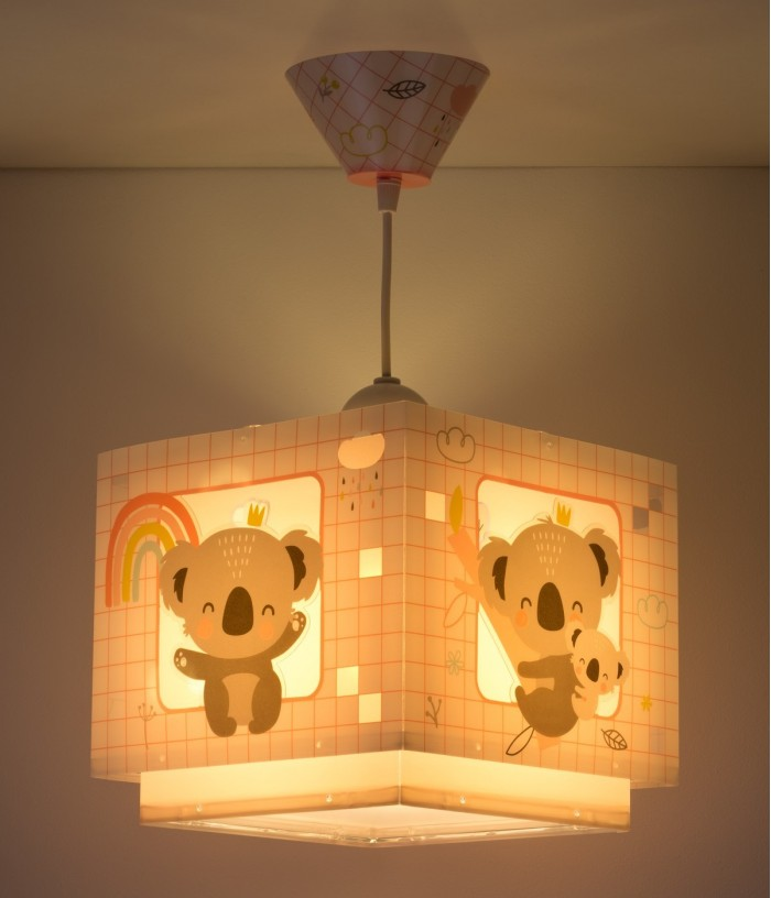 Children ghanging lamp Koala pink