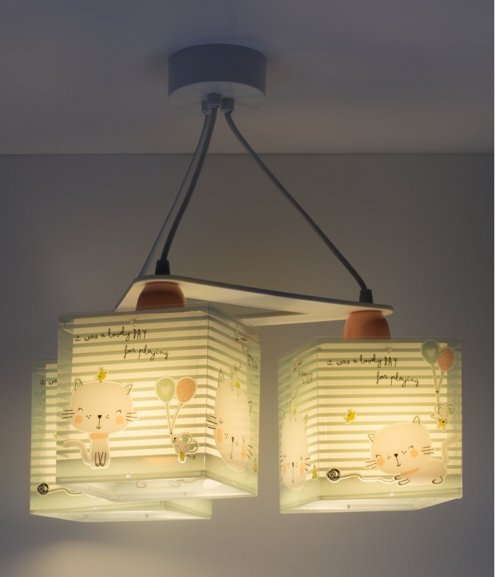 Children's hanging lamp Loving Cat