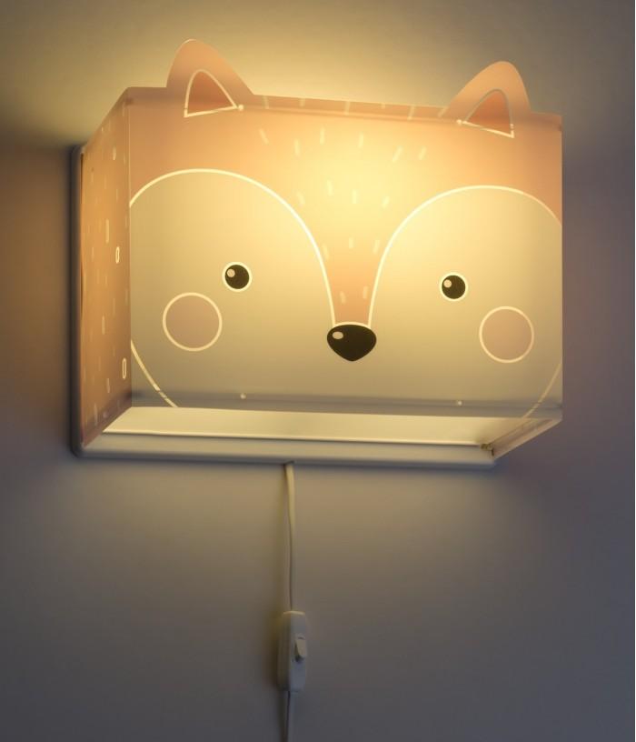 Aplique infantil de parede com raposa Little Fox