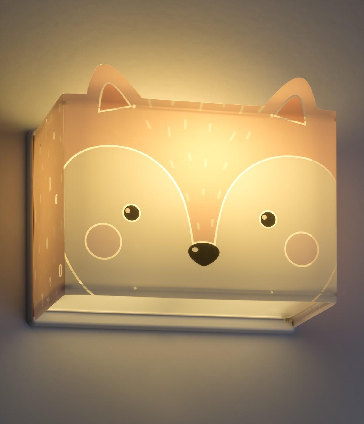 Children wall lamp Little Fox