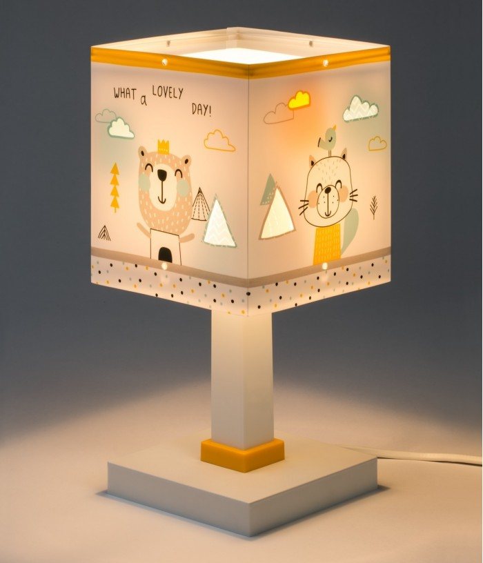 Lámpara infantil de mesita Hello Little