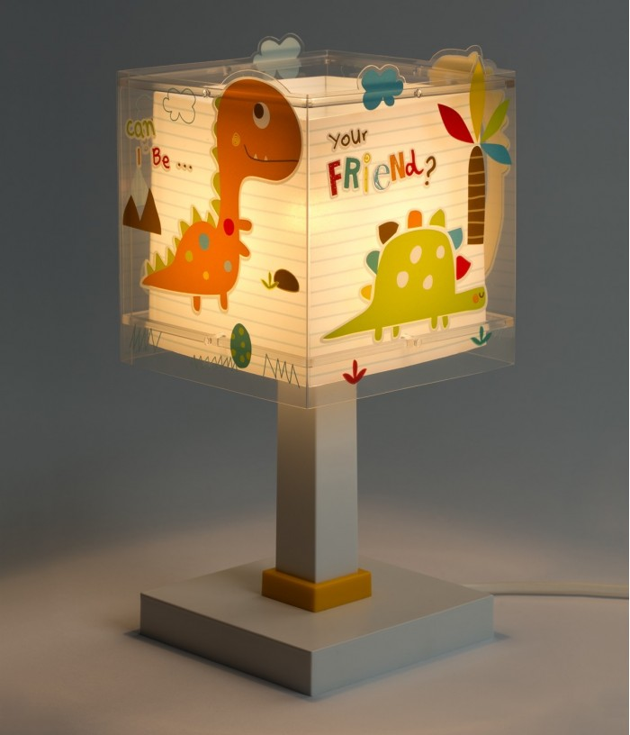 Lámpara infantil de mesa Dinos