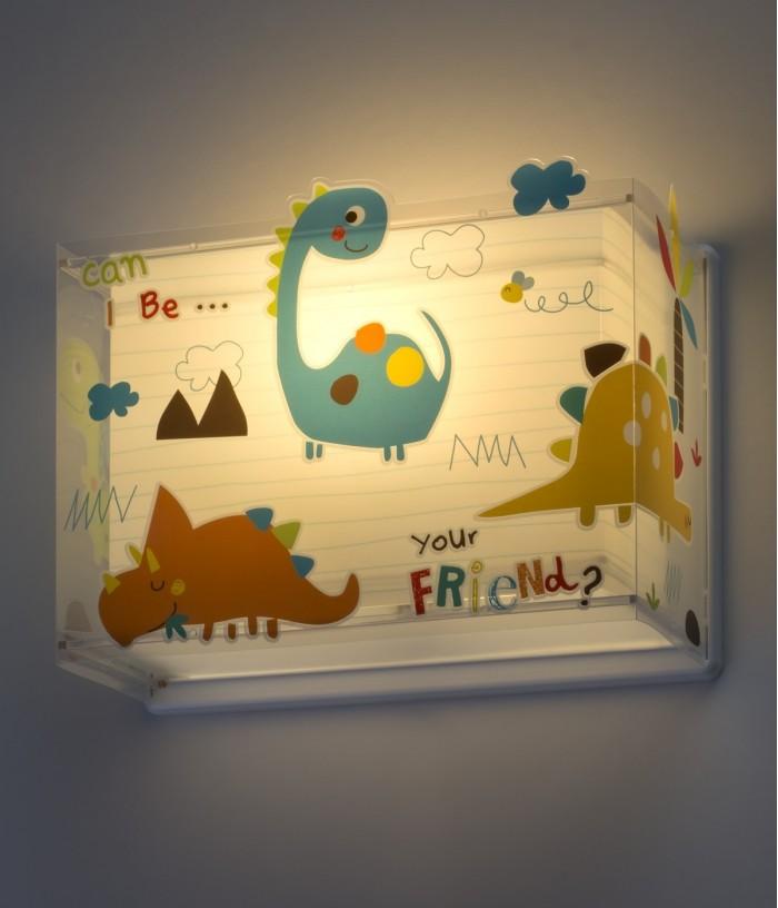 Aplique infantil de parede com dinossauros Dinos