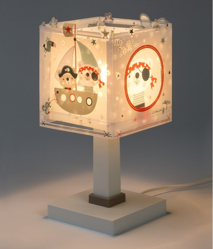 Lámpara infantil de mesita The Pirates