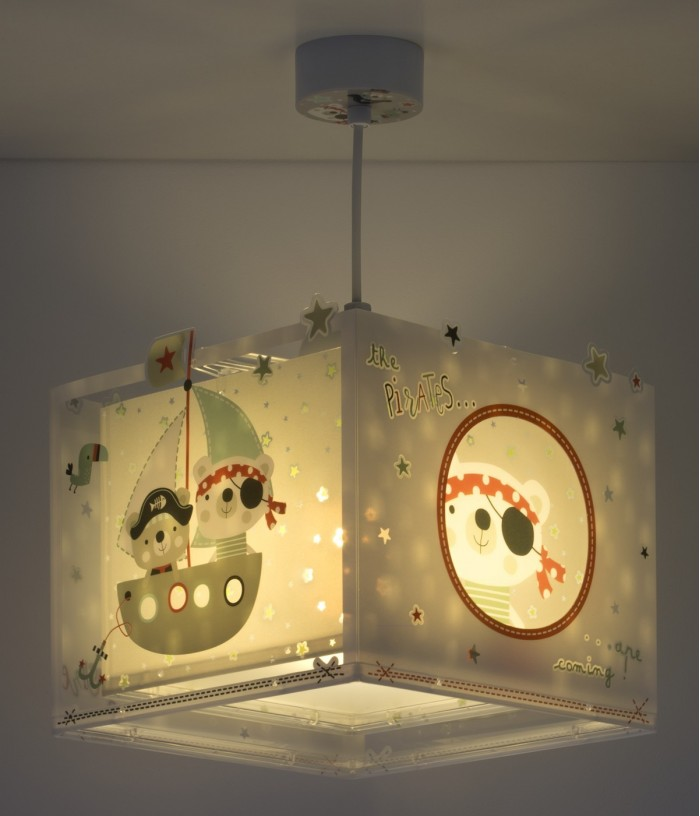 Children hanging lamp The Pirates