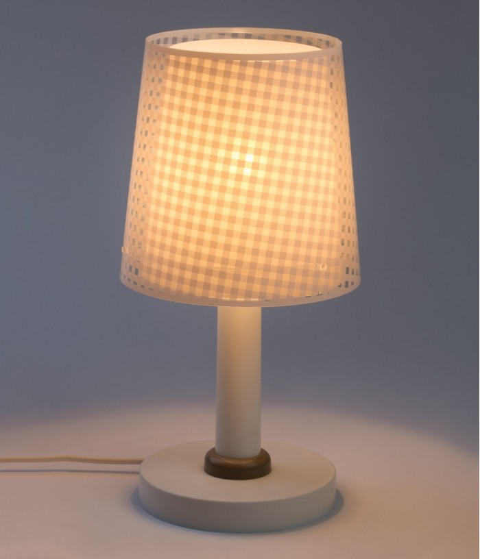 Children table lamp Vichy light brown