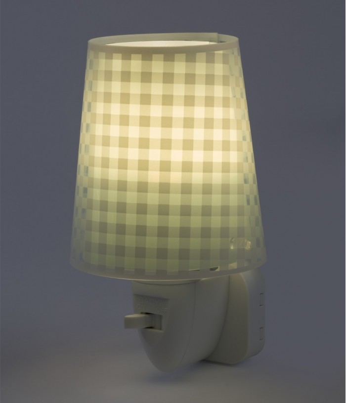 Children's LED Nightlight Vichy green