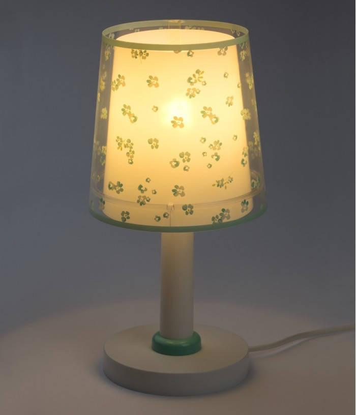 Children table lamp Dream Flowers green