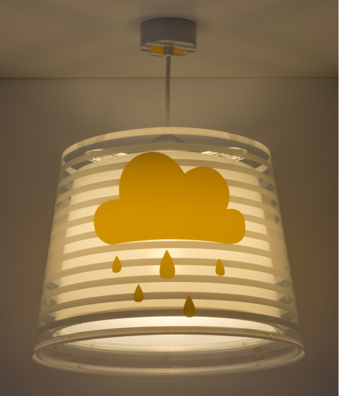 Luminária infantil de tecto Light Feeling cinza