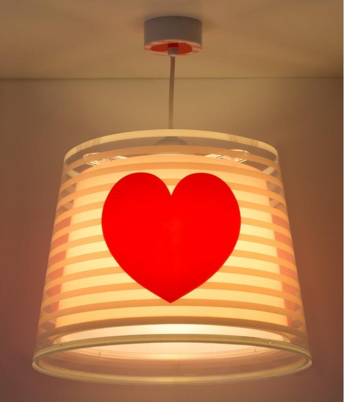 Luminária infantil de tecto Light Feeling rosa