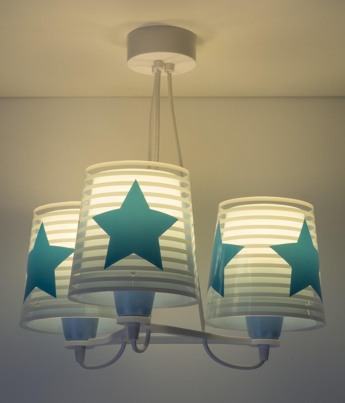 Children 3 light hanging lamp Light Feeling blue
