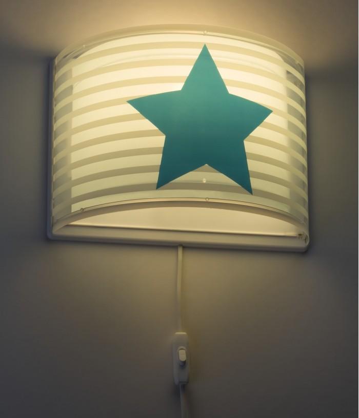 Aplique infantil de parede Light Feeling azul