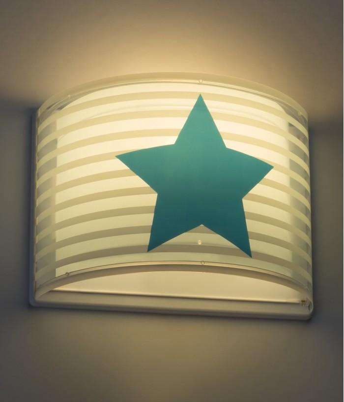 Aplique infantil de pared Light Feeling azul