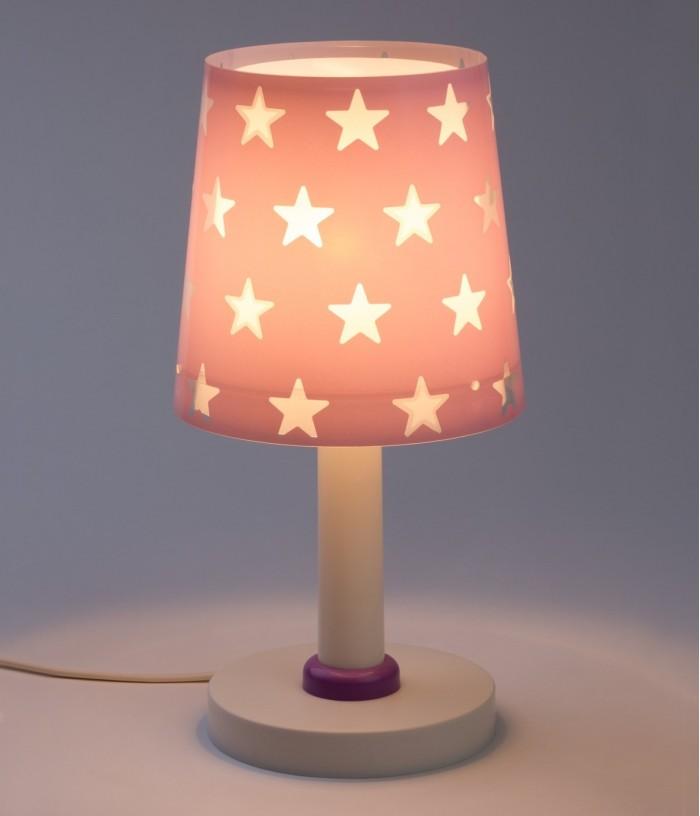 Children table lamp Stars purple