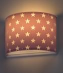 Children wall lamp Stars purple