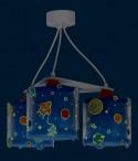 Candeeiro infantil de tecto três luzes Planets