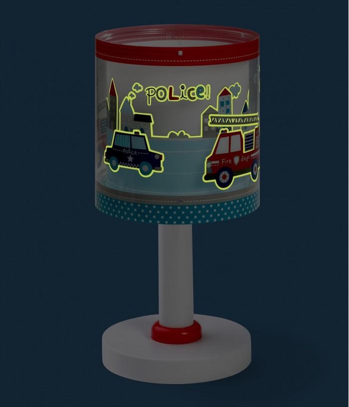Lámpara infantil de mesa Police