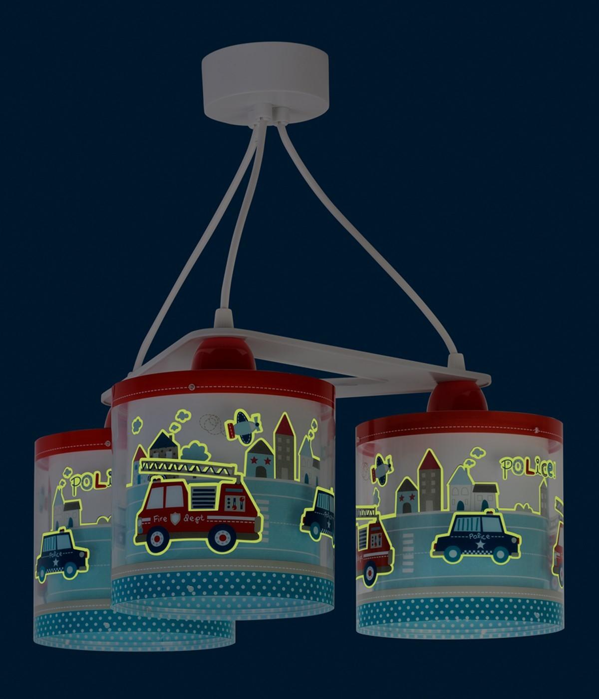 Suspension pour enfants à 3 lampes Police