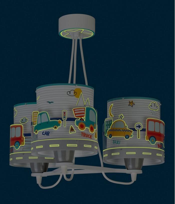 Lámpara infantil de techo 3 luces Baby Travel