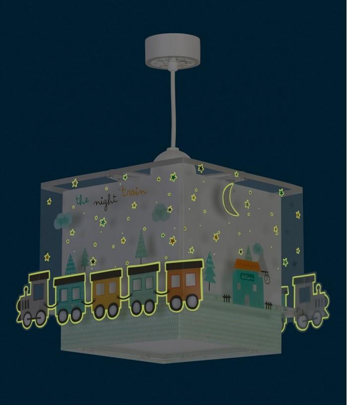 Lámpara infantil de techo The Night Train