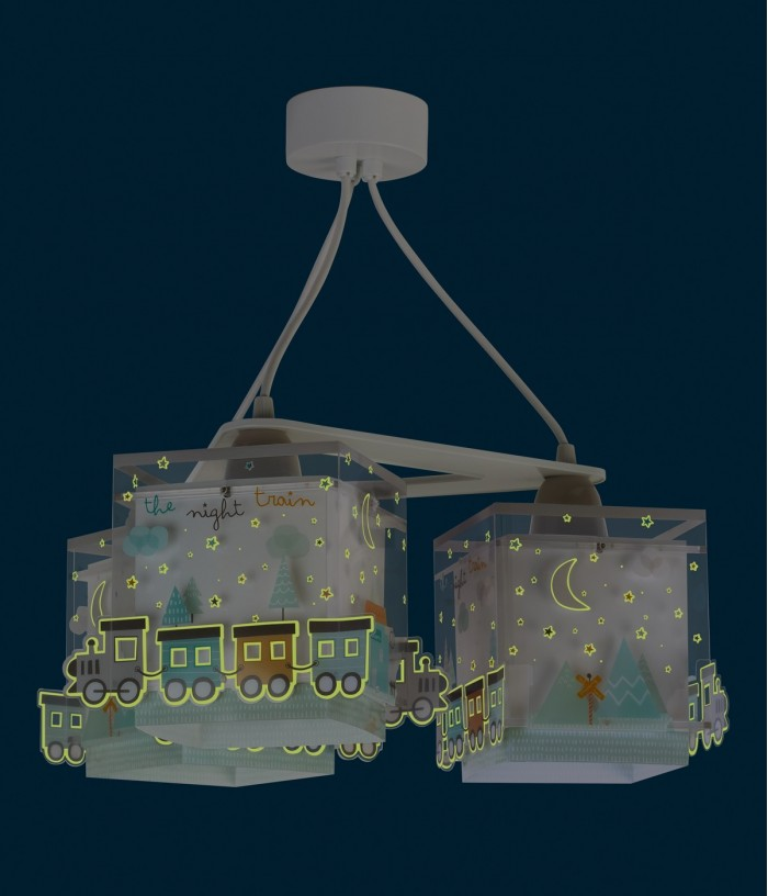 Lámpara infantil de techo 3 luces The Night Train