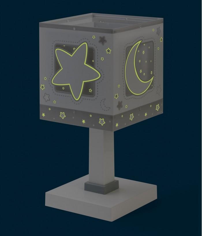 Lámpara infantil de mesa Moonlight gris