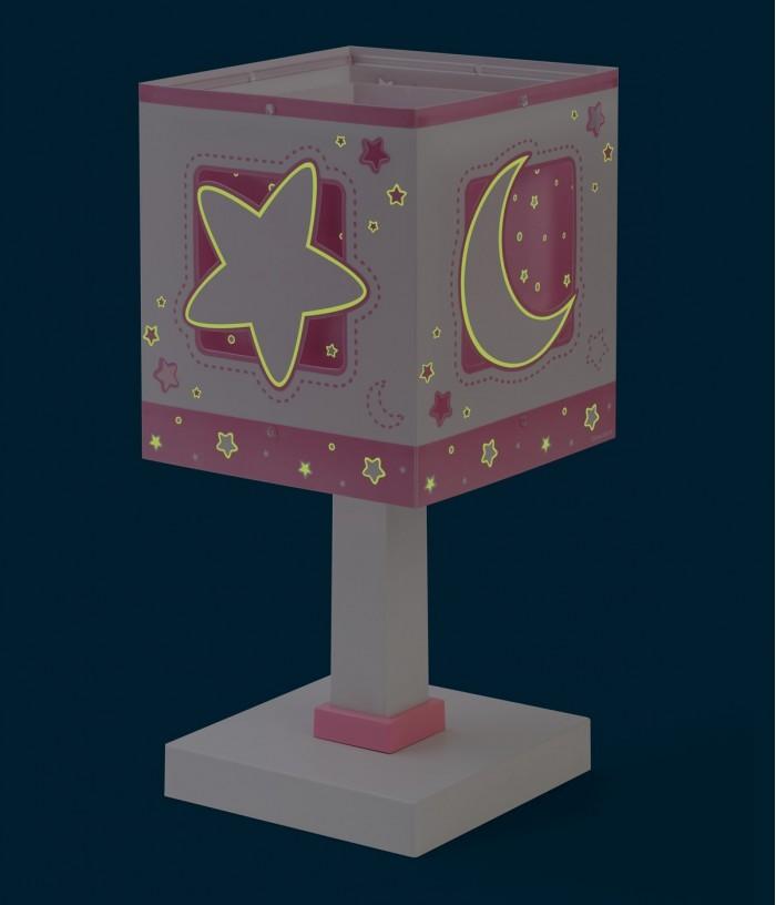 Lámpara infantil de mesita Moonlight rosa