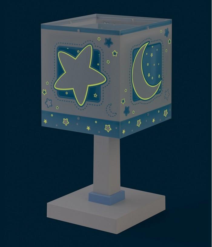 Lampada da comodino per bambini Moonlight blu