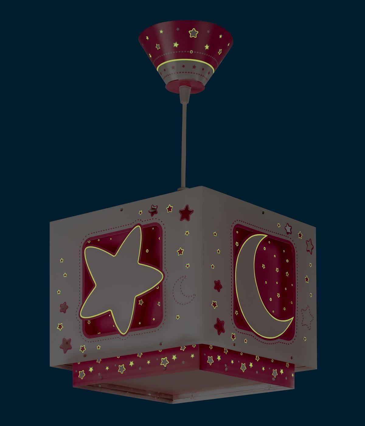 Children hanging lamp Moonlight pink