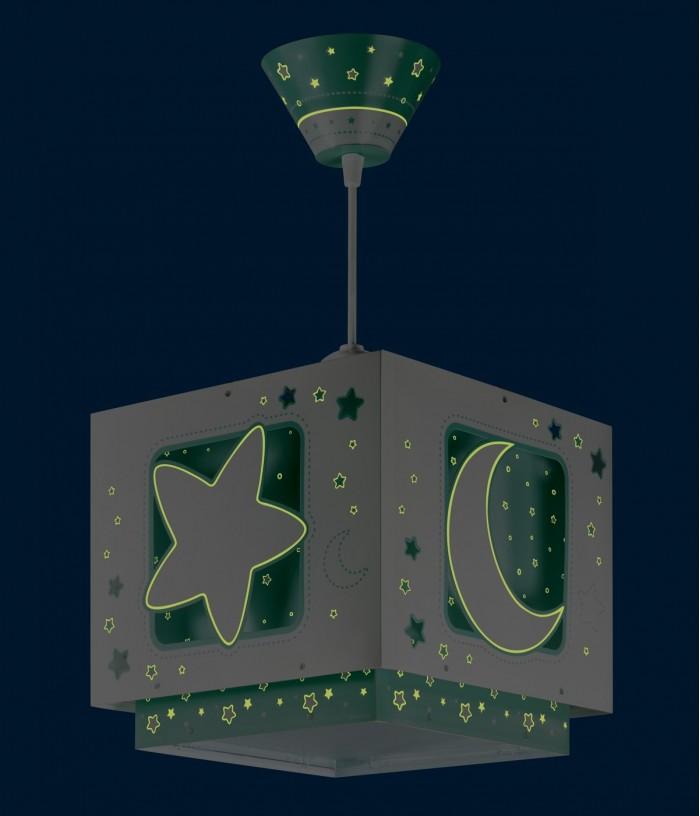 Candeeiro infantil Moonlight verde