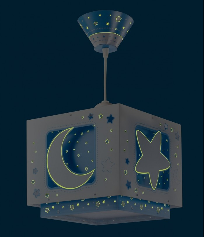 Children hanging lamp Moonlight blue